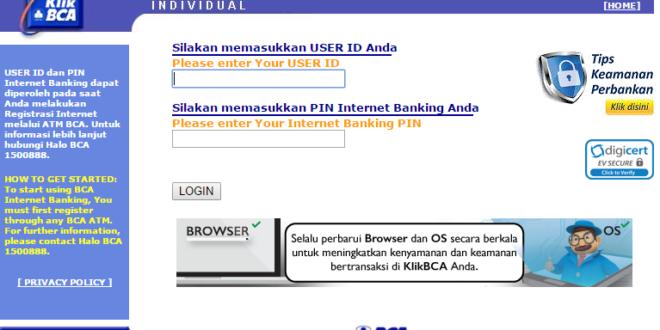 informasi klikbca internet banking individual terkini
