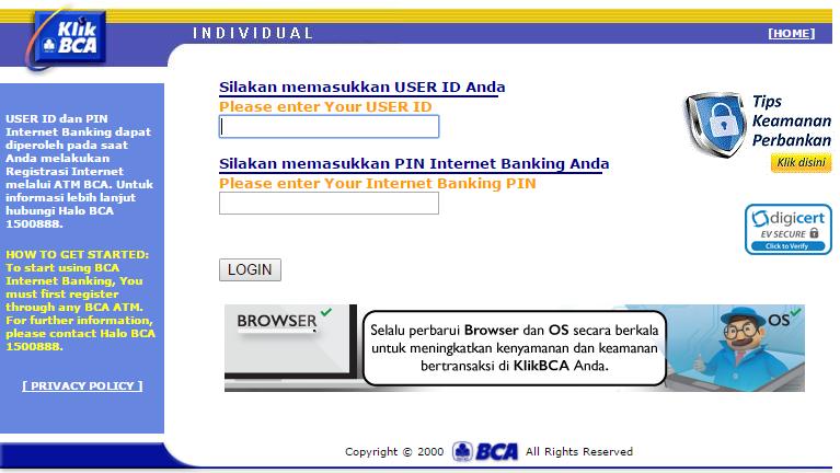 Tentang Bca Internet Banking Individual Sekuritas Co Id